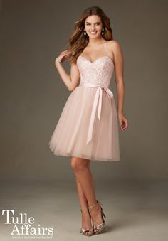 Bridesmaids Dress 131 Tulle with Embroidery and Beading