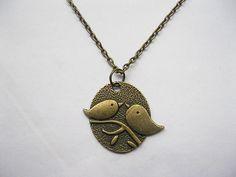 bronze lovebirds necklace. ($3.99)!!