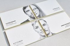 letterpress business card with portrait and painted edges 3