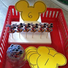 Mickey mouse tot tray - counting/ one to one correspondence