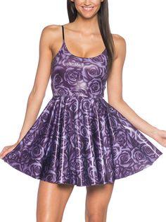 Imperial Rose Pocket Strap Skater Dress - LIMITED (AU $90AUD / US $72USD) by Black Milk Clothing