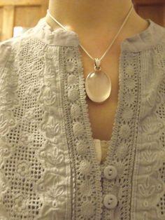 lace + statement necklace
