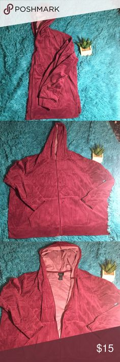 Adorable purple zip up fleece I'm selling a super cute, super soft purple zip up fleece from Rue 21. Worn once. Fits more like a 1X/2X. Soft, comfortable, and warm. Rue 21 Tops