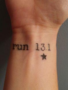 Wrist tattoo, I will add a star for each half marathon I run!