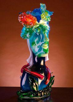 """""""Head"""" glass skulpture , weight 18kg  Скульптуры, бюсты из стекла , представленные в музее Современного Искусства в Нью-Йорке, Токио, Лондоне,  Вене и многих других городах, теперь можно увидеть и приобрести в Москве!"""