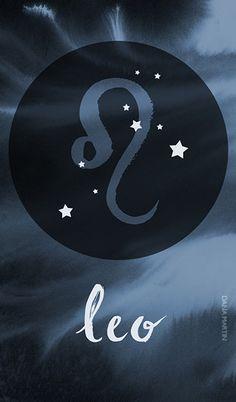 Leo Zodiac Watercolor#leo#zodiac#watercolor#boho#aesthetics#Constellation #astrology