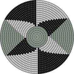 Tapestry Crochet Patterns, Macrame Patterns, Mosaic Patterns, Crochet Stitches, Crochet Carpet, Crochet Fabric, Crochet Home, Crochet Blanket Tutorial, Bead Bowl