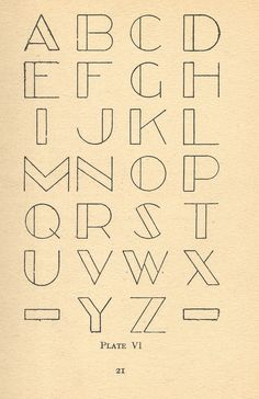 Typography | From a vintage book on modern lettering