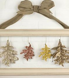 Metallic Leaves of Fall Frame