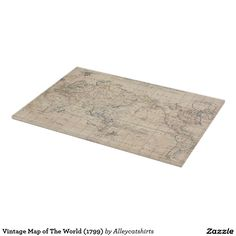 Vintage Map of The World (1799) Cutting Board