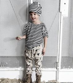Mixing prints and patterns - cool style for boys