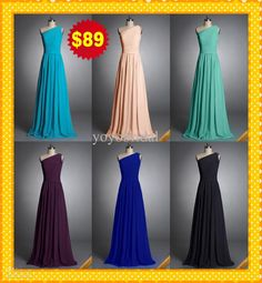 Wholesale Bridesmaid Junior Dress - Buy Actual Image Fashion Turq Royal Blue Coral Black One Shoulder Chiffon Long Cheap HOT Bridesmaid Dresses Evening Formal Prom Party Dress Gown, $50.85 | DHgate