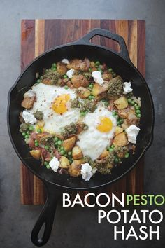 potato hash become your new obsession with this Bacon Pesto Pea Hash ...