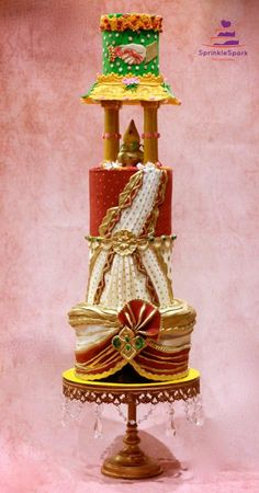 Made this piece for an Indian Wedding Theme collaboration. I wanted to portray Indian wedding in my collaboration piece. I tried to design the colors and wedding styles of South Indian wedding. Fall Wedding Cakes, Wedding Cake Designs, Wedding Cupcakes, Wedding Art, Wedding Themes, Wedding Styles, Wedding Ideas, Indian Wedding Food, Traditional Indian Wedding