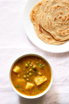 aloo matar curry recipe, how to make aloo matar   aloo matar gravy - Veg Recipes of India