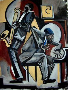 Blues 5 Spot - Thelonious Monk & John Coltrane  © Martel Chapman