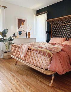 Wicker Bedroom, Cozy Bedroom, Dream Bedroom, Bedroom Decor, Design Bedroom, Home Interior, Interior Design, Aesthetic Bedroom, My New Room