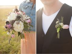 A Wedding in the Wheat Fields - floral by Sweet Sunday Events - as seen on Green Wedding Shoes