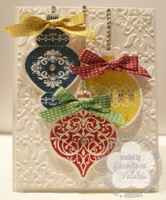 Ornament Keepsakes CArd (Stampin'Up)