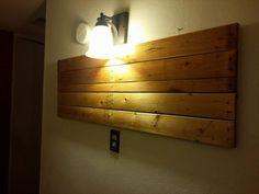 DIY #Pallet Light Lamp Accent | 99 Pallets