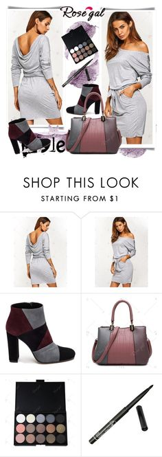 """""""Blouson Backless Dress"""" by fashionb-784 ❤ liked on Polyvore featuring Roberto Festa, fashionable and rosegal"""