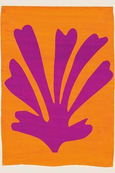 Henri Matisse (French, 1869-1954). Palmette (Feuille violet sur fond orange), 1947.