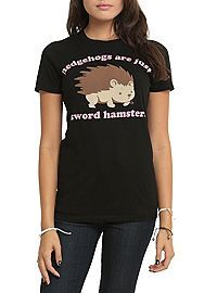 HOTTOPIC.COM - Hedgehogs Are Just Sword Hamsters Girls T-Shirt