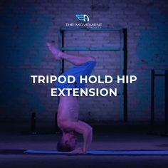 Develop body coordination and strength with tripod hold hip extension!  Besides looking cool and having a neat party trick in your arsenal, the tripod hold hip extension is excellent in developing your body control and awareness in a very unusual position. As you get more comfortable holding this awkward position, you'll also get better body control and awareness in your usual upright position. Party Hacks, Calisthenics, Get Well, Nice Body, Tripod, Arsenal, Awkward, Extensions, Hold On