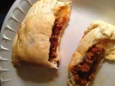 Pillsbury biscuits w/sloppy joe filling and shredded cheese. Bake at 350 for 11 mins= delicious and easy!