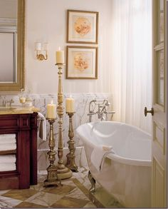 Marble Home Bath Decor Via Christina Khandan On Irvinehomeblog Candleholderscandlestickscandelabrafour Seasons Hotelbathroom