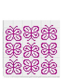 Tiny Cross Stitch, Butterfly Cross Stitch, Cross Stitch Flowers, Cross Stitch Charts, Cross Stitch Patterns, Fair Isle Knitting Patterns, Knitting Charts, Knitting Stitches, Abc Letra