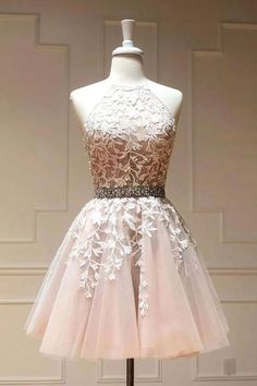 Pink tulle lace short prom dress, lace homecoming dress · inshop · Online Store Powered by Storenvy Dama Dresses, Hoco Dresses, Party Dresses, Evening Dresses, Formal Dresses, Prom Dress, Quinceanera Dresses Short, Quince Dresses, Pageant Dresses