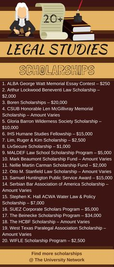 Legal Studies Scholarships Here is a selection of Legal Studies/Law Scholarships that are listed on TUN. – College Scholarships Tips College Life Hacks, College Success, College Tips, School Scholarship, Scholarships For College, Lsat Prep, Detective, Schools In America, Essay Contests