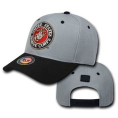 Gray United States US Marines Corps USMC OFFICIALLY LICENSED Baseball Cap  Hat ea9434b01c92