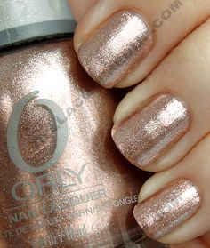 Orly Rage~ one of my all time favorite colors.  It's a bronzy-rose-gold foil.  AMAZING
