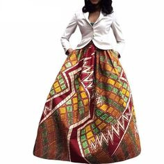 Bold Print Ladies' Skirt