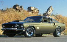 1969 Boss 429 Mustang in Black Jade.