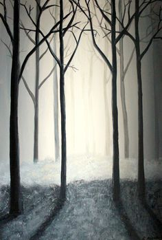 """Thy misty forest"", 60x90x4, Renata Mientus, Fredericia, Denmark; http://maleri-rmp.jimdo.com/maleri-galleri/"