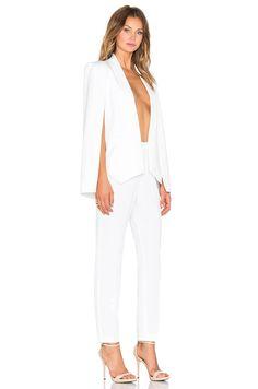 cef53916ad89 OLCAY GULSEN Cape Jumpsuit in White