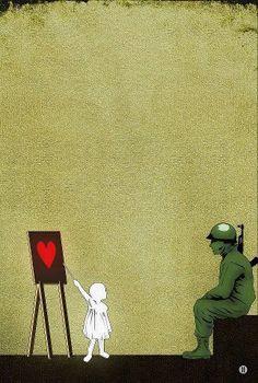 Apprendre la paix à la guerre. #NoWar