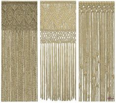 Set Bohemia 3 macramé curtains at Luna Sims Lulamai – Social Sims