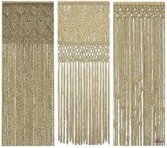 Set Bohemia 3 macramé curtains at Luna Sims Lulamai – Social Sims