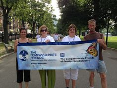 Holding our chapter banner at the TCF National Walk to Remember in Boston 7/7/13