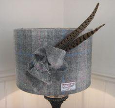 Harris Tweed Lampshade- 50cm Drum Shade