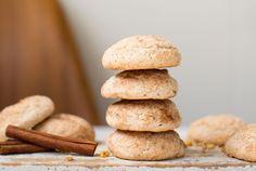 Stack of walnut snickerdoodle cookies