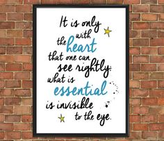 The Little Prince Quote Poster Famous 005 Le Petit by wtfoxart