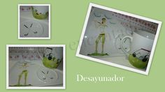 Juego desayunador - Pintura sobre porcelana