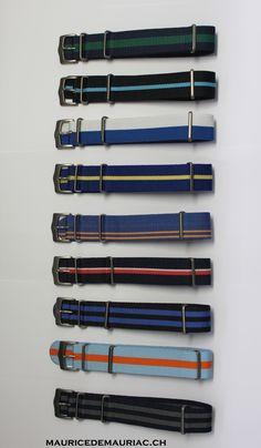 Blue collection of nato straps from Maurice de Mauriac.