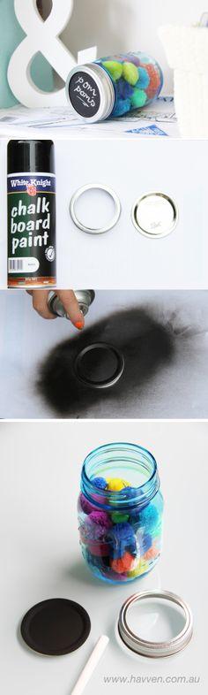 Chalkboard Mason Jar Lid