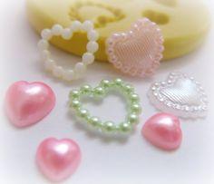 Valentine Heart Love Mold Flower Silicone Flexible by WhysperFairy, $5.95